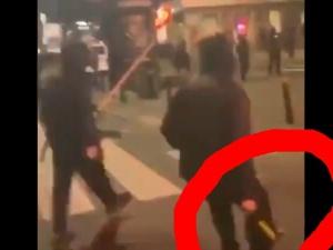 [video] Lewaccy bojówkarze z młotkami w rękach?
