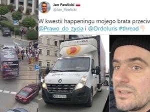 A. Pawlicki zablokował ciężarówkę pro-life. Jan Pawlicki zabiera głos: Mój brat stanął po stronie lewackich niszczycieli życia