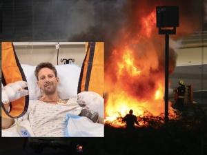 """[Video] """"Uratowała mnie aureola"""". Francuski kierowca, którego bolid eksplodował zabrał głos"""
