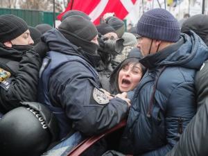 Ukraina. Znowu starcia z policją na Majdanie Niepodległości