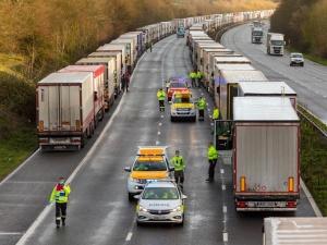 Polscy kierowcy utknęli w Wielkiej Brytanii. MSZ podało noweinformacje