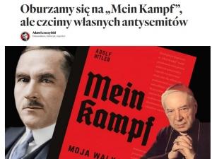 """Kard. Wyszyński i Dmowski na grafice z """"Mein Kampf"""" Hitlera. Krytyka Polityczna szokuje"""