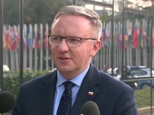 Krzysztof Szczerski rozmawia z doradcą Joe Bidena