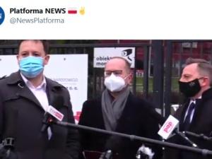 """[VIDEO] """"Wprowadzają opinię publiczną w błąd"""". Konferencja M. Szczerby i D. Jońskiego przerwana"""