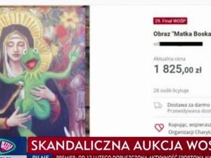 """Zawiadomienie do prokuratury. Minister mocno reaguje na """"Matkę Boską Kermitowską"""" z aukcji WOŚP"""