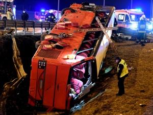 Tragiczny wypadek ukraińskiego autokaru. Andrzej Duda złożył kondolencje rodzinom ofiar