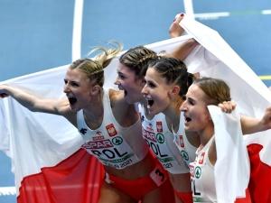 Brązowy medal polskiej sztafety kobiet na halowych mistrzostwach Europy