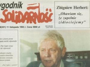Słynnego wywiadu TS ze Zbigniewem Herbertem Cz. 1: Pojedynkowałem się dwukrotnie. Raz poszło o kobietę