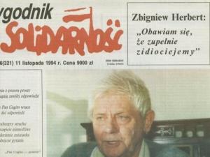Słynnego wywiadu TS ze Z. Herbertem Cz. 2. Miłosz chciał Polskę przyłączyć do ZSRR