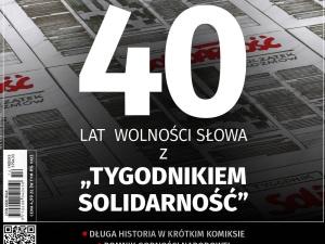 """Najnowszy numer TS: 40 lat wolności słowa z """"Tygodnikiem Solidarność"""""""