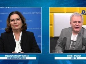 [video] Kidawa-Błońska wije się u Mazurka broniąc Budki. Opanował kryzys