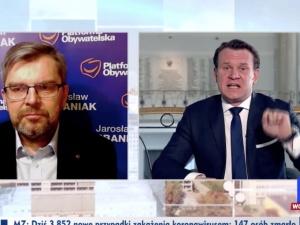 """[WIDEO] """"Niech pan przestanie bredzić, jesteście partią oszustów!"""". Tarczyński nie pozostawił suchej nitki na politykuPO"""