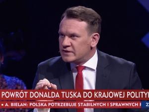 """[WIDEO] Tusk wróci do polskiej polityki? """"Był blady i przerażony"""". Tarczyński nie przebiera wsłowach"""