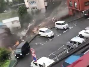 Lawina błotna w Japonii, jest wielu zaginionych. Przerażające nagrania