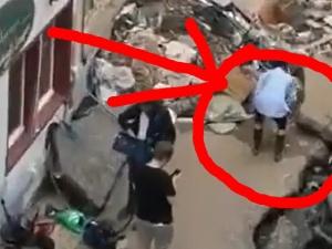 [VIDEO] Reporterka RTL miała celowo pobrudzić twarz błotem podczas relacji z powodzi. Została zawieszona