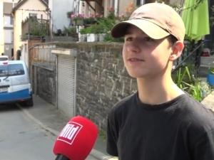 [VIDEO] 15-letni Bartek Zarębski uratował podczas powodzi niemieckiego strażaka