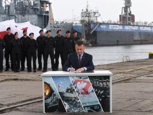 Błaszczak: Chcemy, aby pierwszy okręt został zwodowany za 4 lata. Powstaną trzy fregaty dla Marynarki Wojennej RP