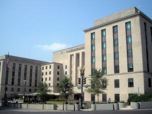USA. Swastyka w budynku Departamentu Stanu