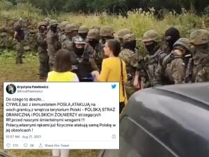 Jachiralegitymowała polskich strażników granicznych. Pawłowicz nie przebiera wsłowach