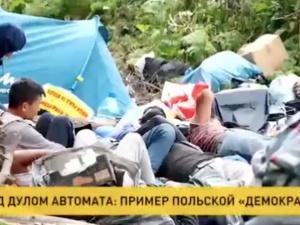 """[WIDEO] """"Wskaż kto w Polsce powiela taką wersję"""".Białoruski materiał propagandowy o sytuacji na granicy z Polską"""
