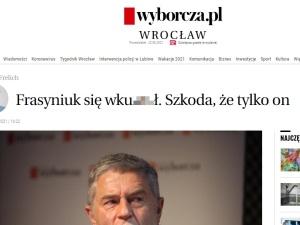 Frasyniuk się wku***w. Red. nacz. wrocławskiej Wyborczej szokuje