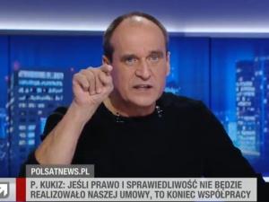 [VIDEO] Idę za nich, a oni na mnie plują!. Emocjonalne wystąpienie Pawła Kukiza w Polsat News