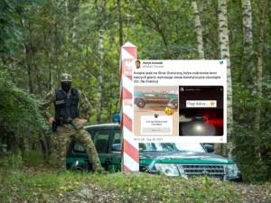SZOK! Skandaliczne napisy na samochodzie Straży Granicznej. Szef sejmowej komisji nie przebierał wsłowach