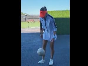 [VIDEO] Nie tylko tenis? Magda Linette pokazała próbkę umiejętności piłkarskich
