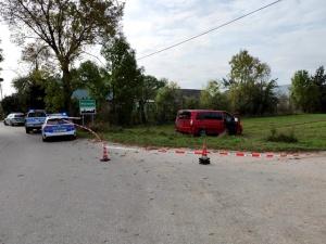 Obywatel Gruzji nie zatrzymał siędo kontroli i potrącił funkcjonariusza. Przewoził nielegalnych imigrantów