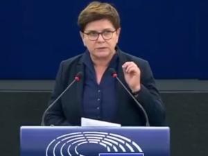 """Ostre przemówienie Beaty Szydło w Europarlamencie! """"Jeżeli chcemy uchronić Europejczyków…"""" [WIDEO]"""