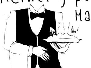 [Kliknij aby zobaczyć całość] Nowy rysunek Krysztopy: Kelnerzy polecają