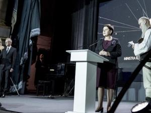 Premier Beata Szydło na rozdaniu nagród ministra kultury