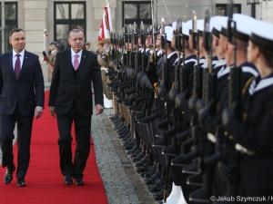 [video] Wizyta Prezydenta Turcji. Prezydent Duda: Polska popiera starania Turcji o wstąpienie do UE