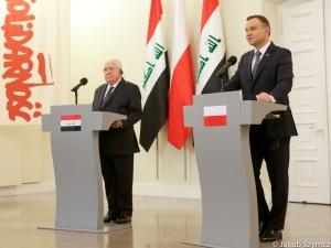 [video] Wizyta prezydenta Iraku w Polsce. Andrzej Duda: Liczymy, że dojdzie do podpisania umów
