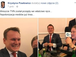"""Posłowie PiS mają ubaw: """"Wreszcie TVN został przejęty we właściwe ręce"""""""