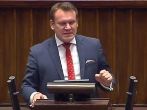 """[video] Dominik Tarczyński do posłów opozycji: """"Wesoło? Będziecie się śmiać przez łzy..."""""""