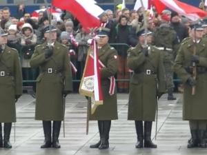 [video] Salut Narodowy, Apel Pamięci i pierwszy meldunek dowódcy WOT podczas obchodów Dnia Niepodległości