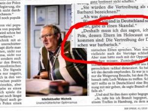 Michnik uśmiercił swoich rodziców w Holokauście. Jego ojciec Ozjasz Szechter zmarł w 1982 roku