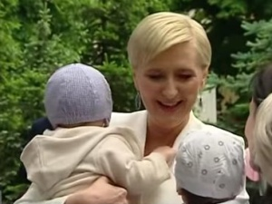 Agata Duda spotkała się z matkami wcześniaków