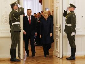 [nasza fotorelacja] Rozmowy Prezydentów Polski i Litwy