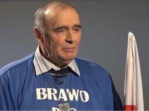 Protestujący Zygmunt Poziomka został opluty na rondzie ONZ