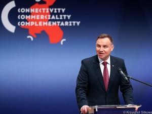 """Andrzej Duda uczestniczył w otwarciu Forum Regionów Trójmorza. """"To projekt sprawczy, a nie teoretyczny"""""""