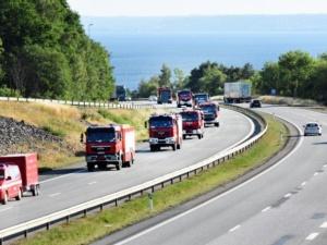 Polscy strażacy entuzjastycznie witani w Szwecji. Będą gasić olbrzymie pożary