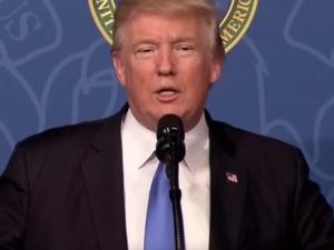 Internauta porównał zdjęcie Trumpa z Macronem ze zdjęciem Trumpa z Dudą. Widzicie różnicę?