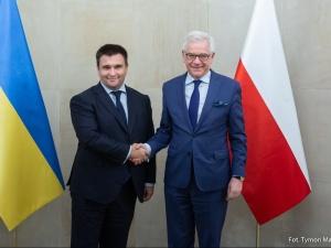 Po spotkaniu szefów MSZ: Polska niezmiennie popiera euroatlantyckie aspiracje Ukrainy
