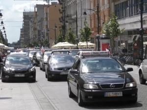 Dziś protest taksówkarzy. Na dwie godziny zablokują centrum Warszawy
