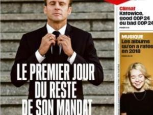 """Okładka Libération - """"Pierwszy dzień reszty jego [Macrona] kadencji"""""""