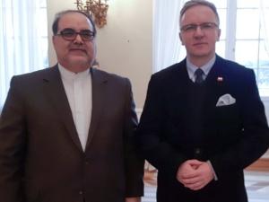 Krzysztof Szczerski spotkał się dziś z Ambasadorem Iranu. Tematem rozmów Konferencja Bliskowschodnia