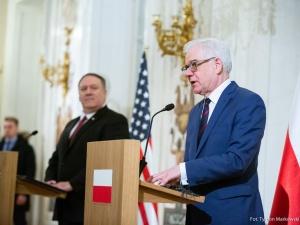 Po spotkaniu min. Czaputowicza z sekretarzem stanu USA Mike'em Pompeo przed konferencją bliskowschodnią