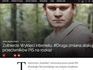 """""""Żołnierze Wyklęci internetu. Ich bronią - nienawiść"""". Oko.press atakuje """"prawą stronę"""" Twittera"""